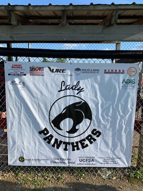 Wolfe & Sons sponsors the Lady Panthers of Fairbanks softball team 10U