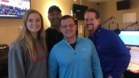 Tim Wolfe in the studio at 105.7 The Zone with Chris Spielman, Maddie Spielman and Hooley. Wolfe & Sons currently sponsor the weather updates with iHeart Media and 105.7 The Zone.
